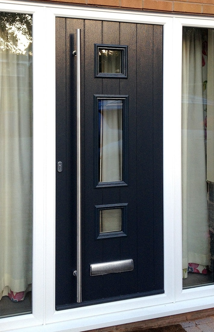 Bi fold patio french front back doors supplied in for Composite front doors