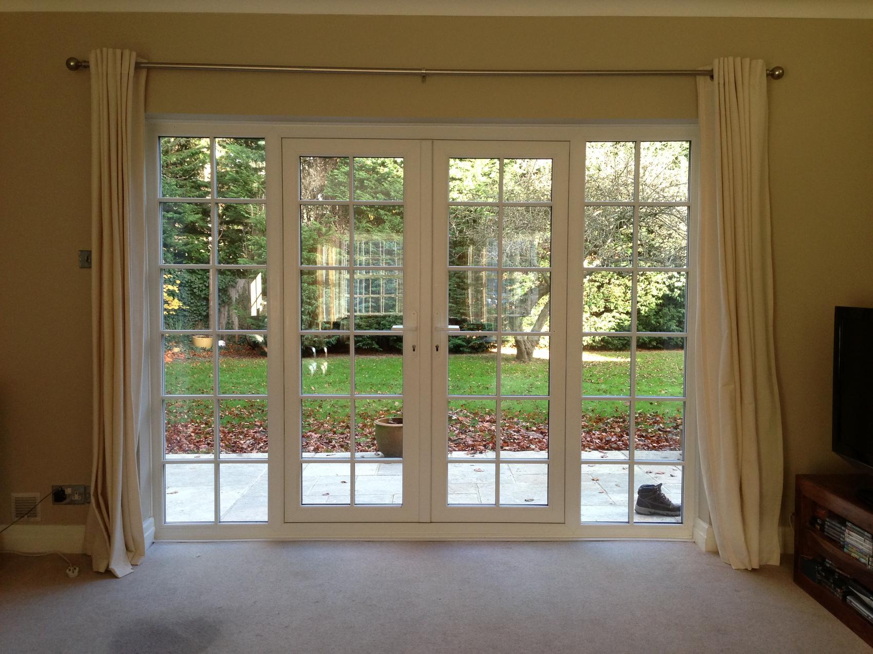 Bi fold patio french front back doors supplied in for Double french doors