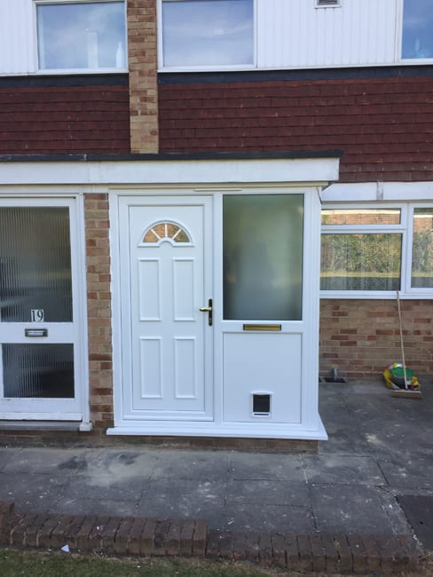 white upvc porch surrey - What are the benefits of porches for your home?