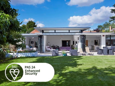 PAS24 security for all bifold doors supplied and fitted in Surrey and London