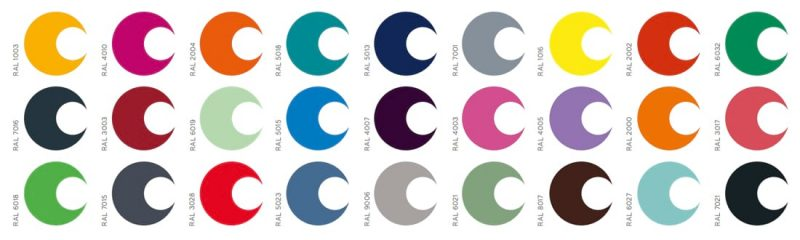 RAL colour options for uPVC windows